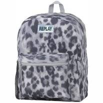 Rugzak Replay Girls Leopard Grey Groot