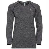 Shirt Odlo Women Top Crew Neck L/S Seamless Element Grey Melange
