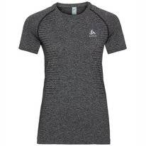 Sportshirt Odlo Women Top Crew Neck S/S Seamless Element Grey Melange