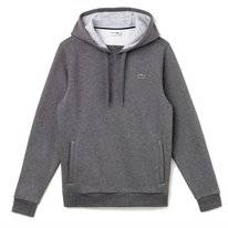Trui Lacoste Men SH2128 Hooded Sweater Pitch Silver Chine