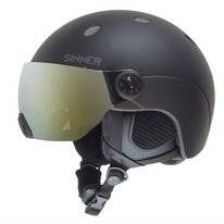 Skihelm Sinner Titan Visor Kids Matte Black Gold Mirror