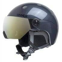 Skihelm Sinner Titan Visor Kids Metallic Dark Grey Gold Mirror