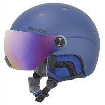Skihelm Sinner Titan Visor Kids Metallic Blue Mirror