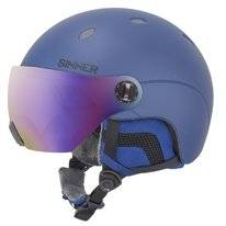 Skihelm Sinner Titan Visor Kids Metallic Blue Trans+