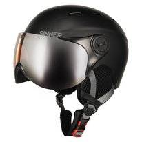 Skihelm Sinner Typhoon Visor Kids Matte Black