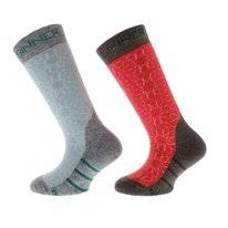 Chausettes de Ski Sinner Kids Stars Coral Turquoise (2 Paar)