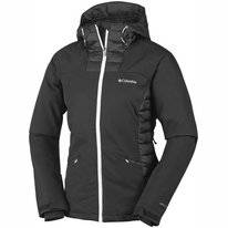 Skijacke Columbia Salcantay Hooded Black White Damen