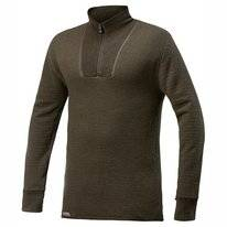 Skipullover Woolpower Zip Turtleneck Lite Pine Green Unisex