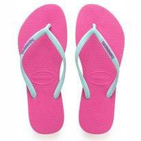 Slipper Havaianas Slim Logo Hollywoord Rose Ice Blue