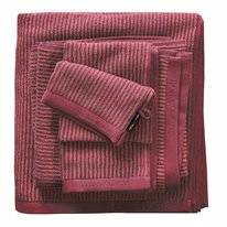 Gästehandtuch Marc O'Polo Timeless Tone Stripe Deep Rose Warm Red