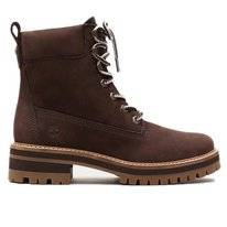 Timberland Courmayeur Valley Yellow Boot Dark Brown Nubuck Damen