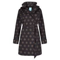 Regenjas Happy Rainy Days Trenchcoat Sandy Globe Black Safari
