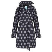 Regenjas Happy Rainy Days Trenchcoat Winny Globe Black Off White