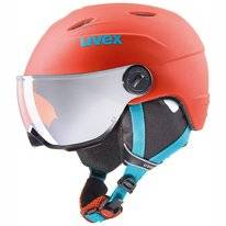 Skihelm Uvex Junior Visor Pro Orange Petrol Metal