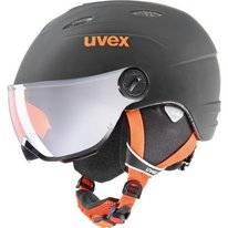 Skihelm Uvex Kids Visor Pro Black Orange Mat