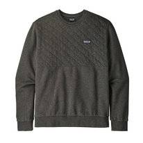 Trui Patagonia Mens Organic Cotton Quilt Crewneck Sweatshirt Forge Grey