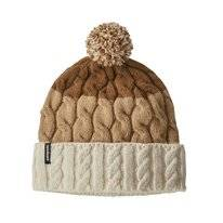 Muts Patagonia Women Pom Beanie Glacier Stripe Birch White Bearfoot tan
