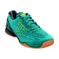 Tennisschuh Wilson Kaos Indoor Enamel Blue Black Safety Yellow Herren