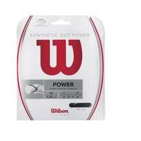 Tennissaite Wilson Synthetic Gut Power 16 Bk Schwarz