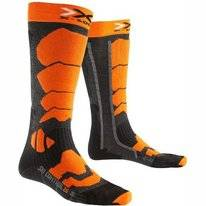 Chaussettes de ski X-Socks Control 2.0 Anthracite/Orange