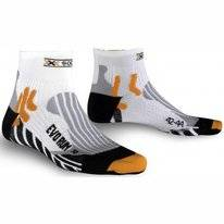 Chaussettes de Course X-Socks Evo Run White Black