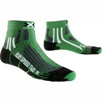 Chaussettes Running X-Socks Speed Two Green/Black