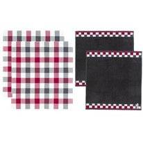Combi Set DDDDD Carre Anthracite Kitchen Towel Tea Towel