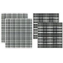 Combi Set DDDDD Kilt Anthracite Kitchen Towel Tea Towel