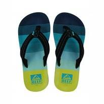 Slipper Kids Reef Ahi Green Aqua