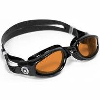 Zwembril Aqua Sphere Kaiman Amber Lens Black
