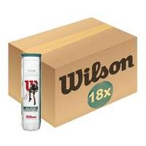 Tennisball Wilson Tour All Court 4-Tin Gelb (Paket 18x4)