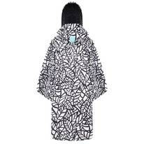 Poncho Happy Rainy Days Bike Cape Bora Leaf Off White Black