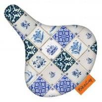 Zadelhoes Bikecap Delft Blue Tiles
