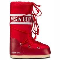 Moon Boot Unisex Nylon Red