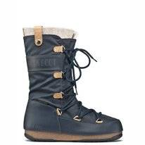 Schneestiefel Moon Boot Women Monaco Felt Denim Blue Damen