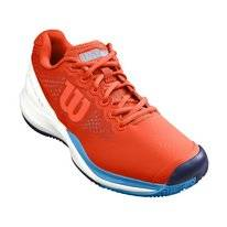 Tennisschoen Wilson Men Rush Pro 3.0 Tangerine Tango White Bonnie Blue