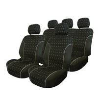Stoelhoesset Carpoint Charcoal Airbag (9-delig)
