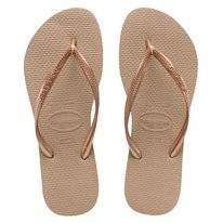 Tongs Havaianas Slim Rose Or