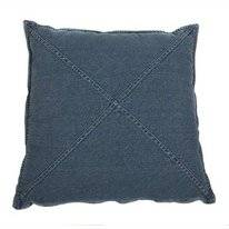Zierkissen Denim Cross Blau