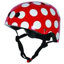 Fietshelm Kiddimoto Red Dotty