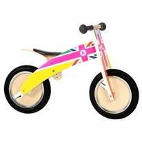 Loopfiets Kiddimoto Kurve Rainbow Union Jack