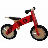 Loopfiets Kiddimoto Kurve Red Tyre