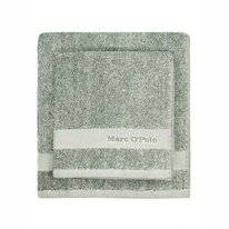 Serviette Invité Marc O'Polo Melange Pine Green Off White