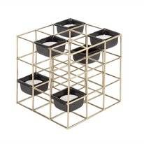 Tea Light Holder PT Living Structure Iron Square Gold