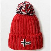 Bonnet Napapijri Youth Semiury 3 High Risk Red (22 inch)
