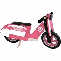 Loopfiets Kiddimoto Scooter Pink Stripe