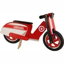 Loopfiets Kiddimoto Scooter Red/White