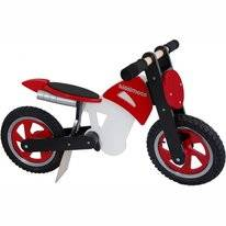 Loopfiets Kiddimoto Scrambler Red