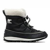 Bottes de neige Sorel Youth Whitney Short Lace Black Sea Salt