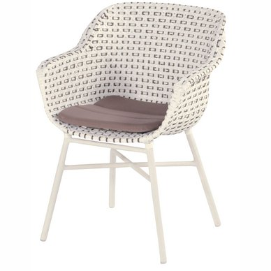 Tuinstoel Hartman Delphine Dining Chair Royal White Moccacino Wicker